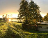 Sonnenuntergang am Simssee - Camping Stein