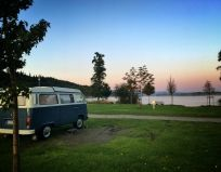 Sonnenaufgang am See - Camping Stein